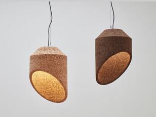 Angled Cork Pendants