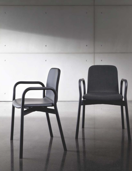 Two tone chair with arms
