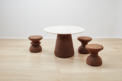 Terrazzo & Cork collection on timber flo