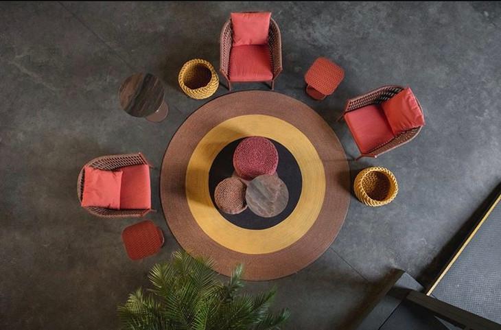 Round rug, Kauai lounge chair, Bora Bora