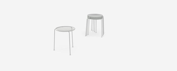 Hula stacking stools