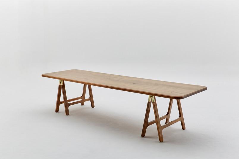 Wiid Design -Walnut Trestle Table 1