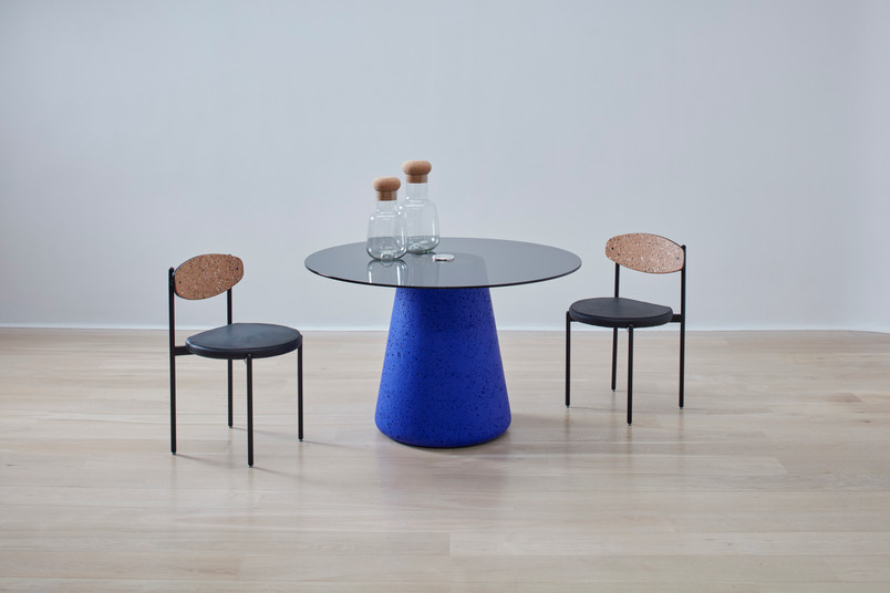 Painted Cork & Glass Tall Table 1.jpg