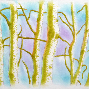林の装飾画習作