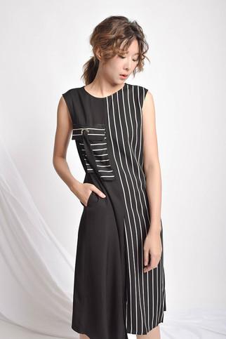 Eileen Sleeveless Striped Dress