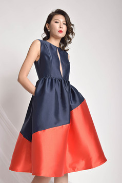 Dseva Two-Toned Flared Dress