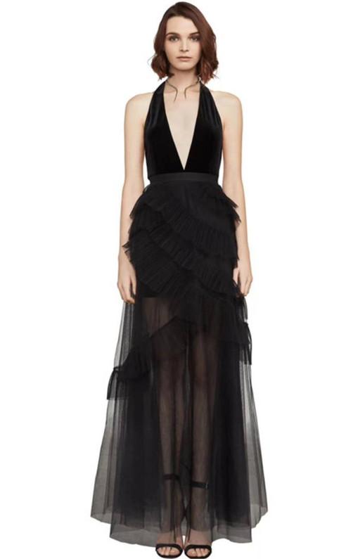 Angelene Velvet Halter Gown