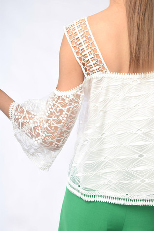 Hertha Cut-Out Shoulders Top
