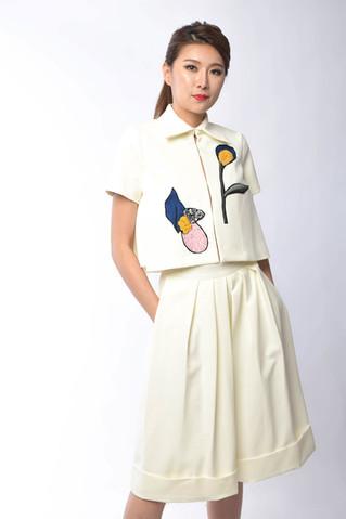 Selena Embroidered Collar Set Wear