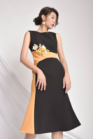 Irey Embellished Midi Dress