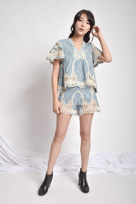 Bytal Embroidered Lace Two-Pieces Wear