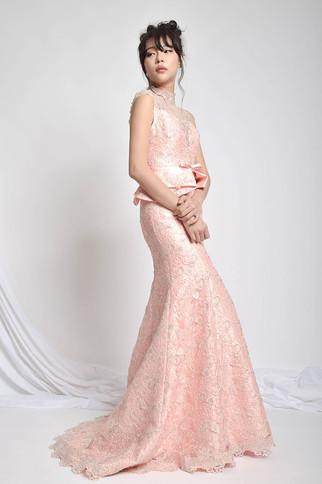 Gyona Beading Peplum Gown