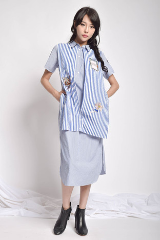 Fayla Patches Cotton Dress