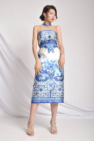 Gslie Printed Silk Dress