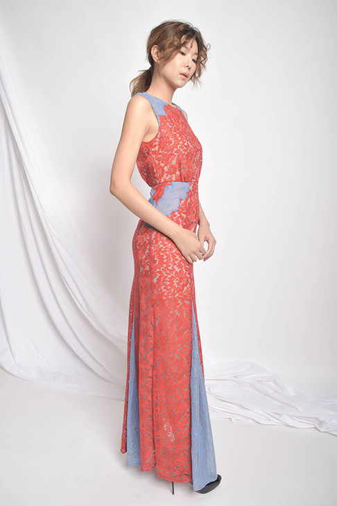 Marilyn Floral Lace Gown