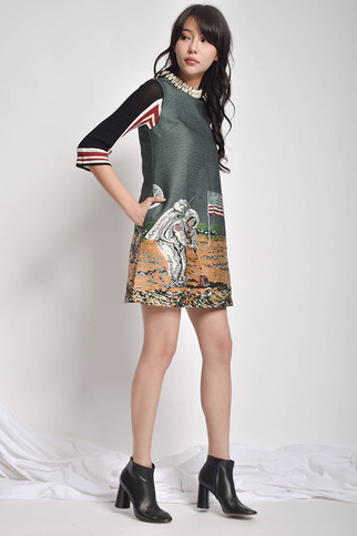 Jvimie Print Sleeveless A-Line Dress