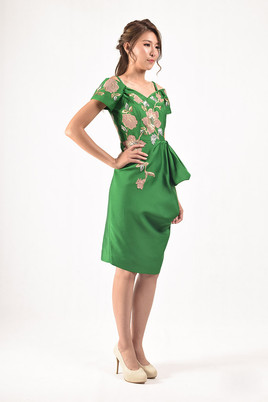 Caris Bardot Midi Dress