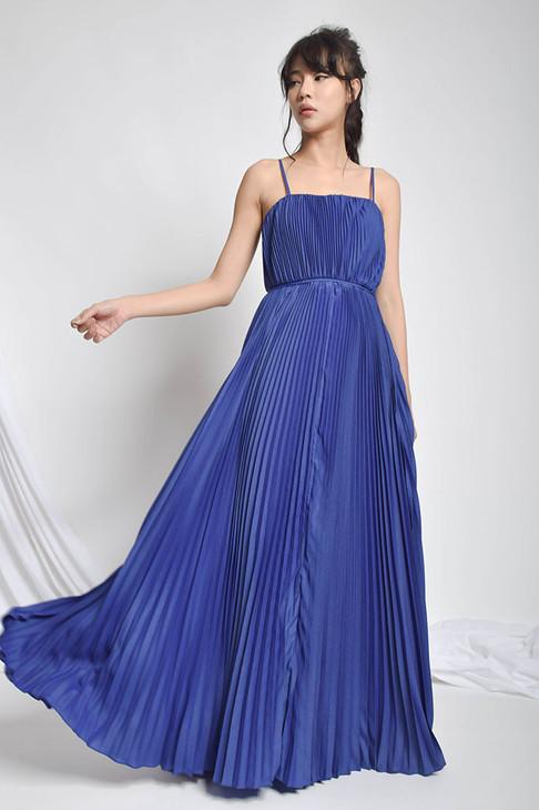 Jeanne Pleated Maxi Dress