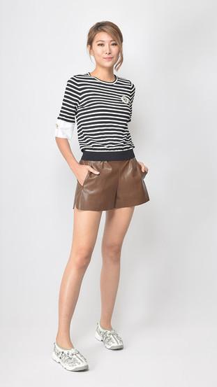 Viona Leather Short
