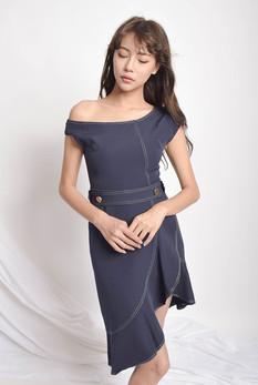 Wendell Assymetric Denim Dress