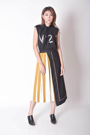 Reatha Asymmetric Wrap Skirt