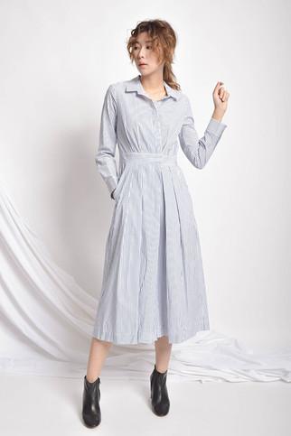 G-rella Pleated Cotton Jumpsuit