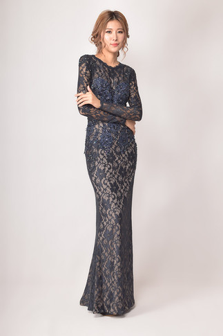 Meena Beaded-Lace Dress