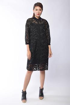 Xylia Lace Shirt Dress