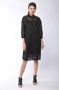 Xylia Lace Shirt Dress
