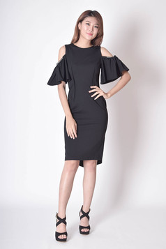 Janne Cold-the-Shoulder Dress