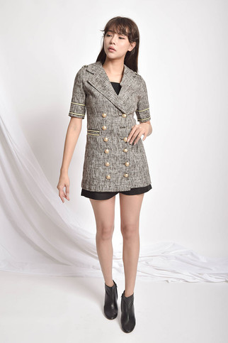 Matphen Button-On Double-Breasted Wool Blouse