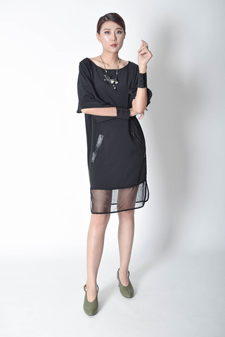 Cherals Chiffon Shift Dress