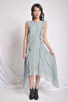 Derra Floral Asymmetric Dress