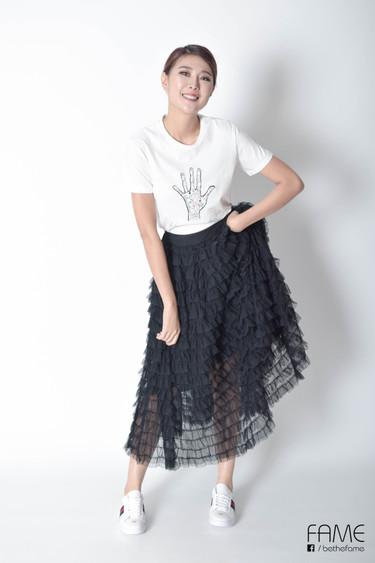 Betsy Ruffled Black Skirt