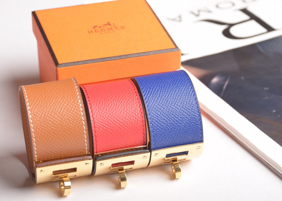 Kelly Lock Leather Bracelet
