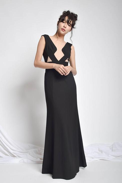 Jsepey V-Neck Back Prom Dress