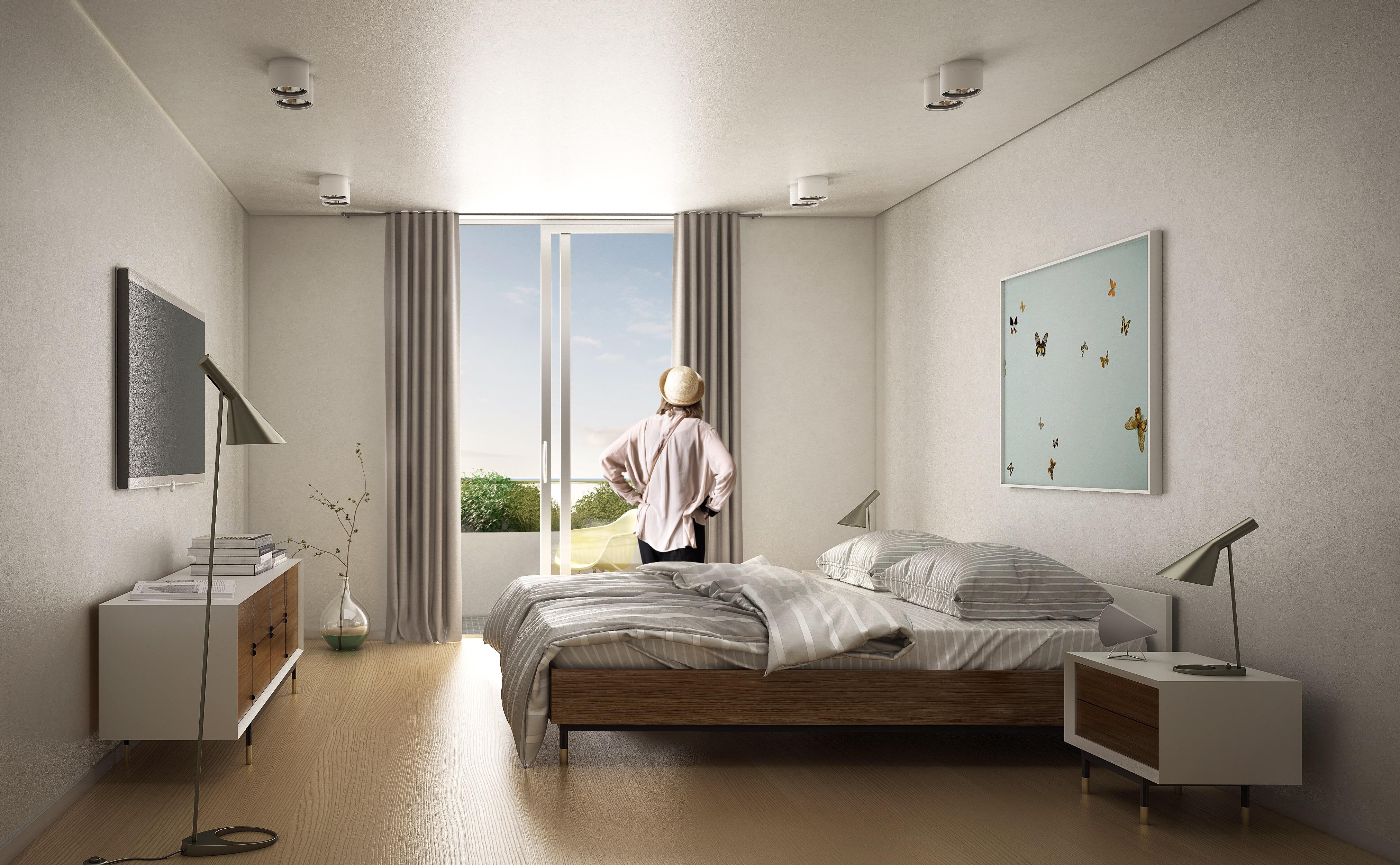 Vista interior de habitación