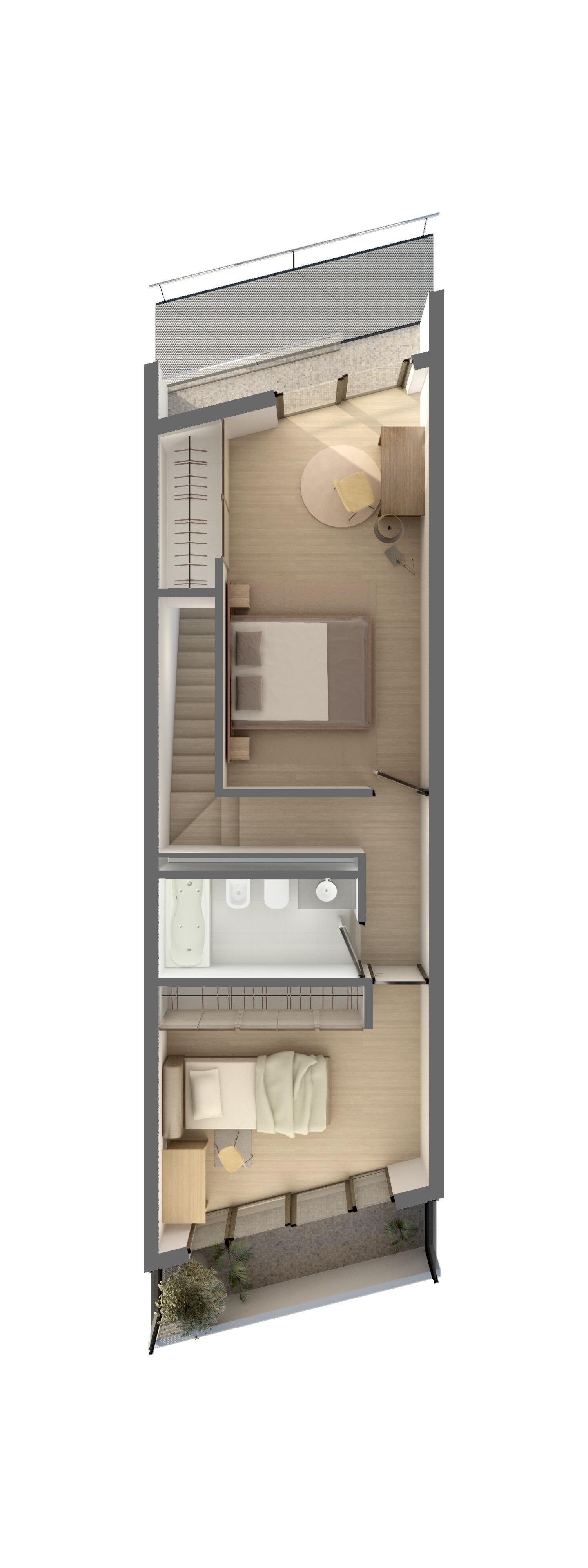 Planta Duplex 3 Dormitorios