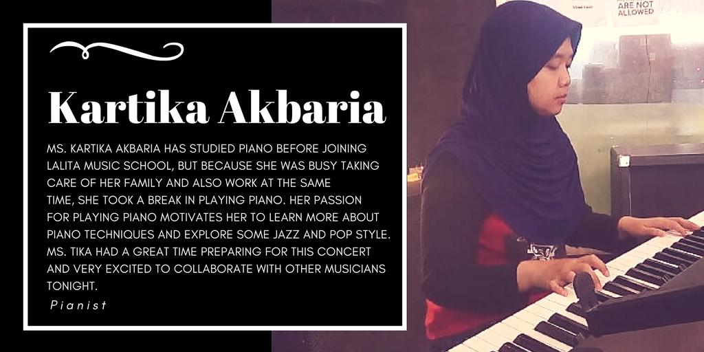 Ms. Kartika Akbaria, Lalita Music School's piano student