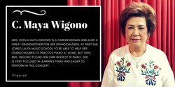 Mrs. Cicilia Maya Wigono, Lalita Music School's piano student