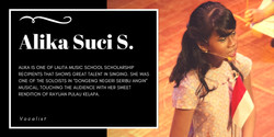 Alika Suci Saharani, one of HORE Indonesia's student that get a vocal class scholarship from Lalita