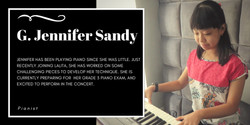 Gabriela Jennifer Sandy, Lalita Music School's piano student