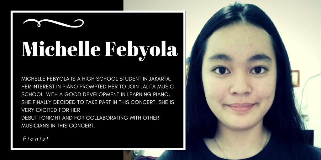 Michelle Febyola, Lalita Music School's piano student