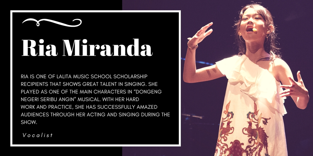 Ria Miranda, one of HORE Indonesia's student that get a vocal class scholarship from Lalita Music Sc