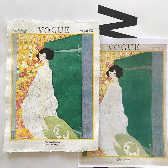 Copying #vintagevoguecover 🌷on #khadipa