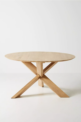 Oak Circle Table - Anthropologie
