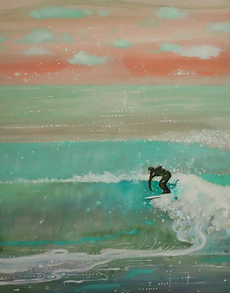 Surf the Wall | 31x 39 | Saatchi