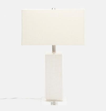 Fabre Burlap Lamp - Belle & June