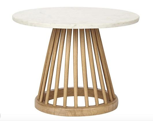 Fan Table Marble Top - Horne
