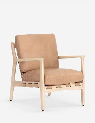 Kenneth Leather Chair - Lulu & Georgia